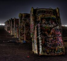 Midnight at Cadillac Ranch by Terence Russell
