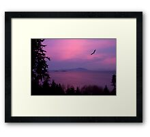 Sunrise Over the Strait Framed Print