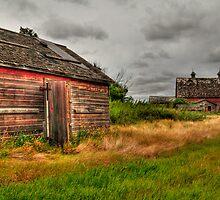 Barns in the prairies by zumi