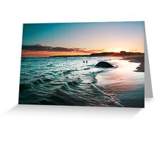 sunset colours Greeting Card