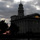 Sunset Behind Nauvoo Temple ~ Nauvoo Illinois USA by Jan  Tribe