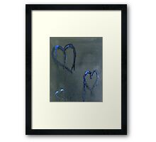 Lonely Blue Hearts Framed Print