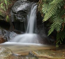 Small Waterfall @ Blue Mountains by harshcancerian