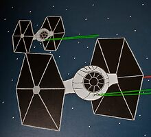 Painted TIE fighters by Allen Gray