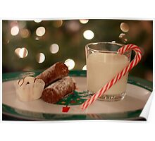 Food and Drink For Santa Poster