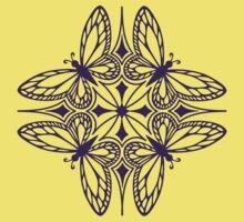butterfly mandala - one flutter! Kids Clothes