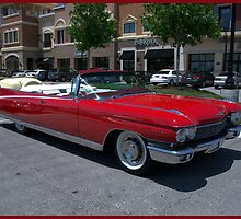 """Long And Red"" 1960 Cadillac Eldorado Convertible by TeeMack"
