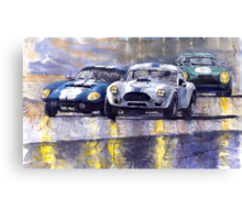 Duel AC Cobra and Shelby Daytona Coupe 1965 Canvas Print