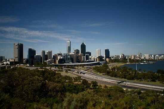 Perth City From Kings Park by mattsibum