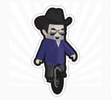 My unicycling, 10-gallon hat wearing chum by BigFatRobot