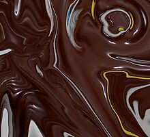 Melted Chocolate Abstract 3 by Michelle BarlondSmith