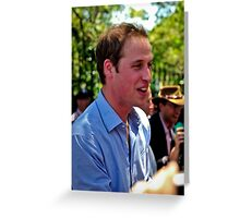 Prince William Greeting Card