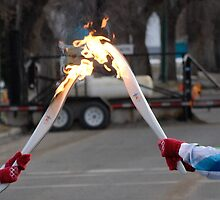 United By the Olympic Flame  by Jason D. Laderoute