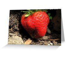 A Big Juicy Strawberry, Yum!!! Greeting Card