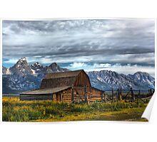 Mormon Row Barn, Grand Teton NP Poster