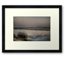 Moon and Chapel Framed Print
