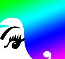 Rainbow Head Sticker