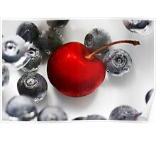 Cherry Berries Poster