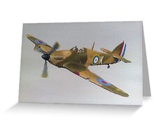 Hawker Hurricane - WWII Fighter Plane Greeting Card