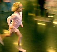 Running ballet girl by Peter Voerman