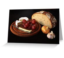 bread and cheese Greeting Card