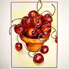 Cherries....Reaching Out by  Janis Zroback