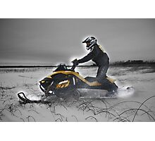 Skidooing in Monochrome (and that's only half a lie) Photographic Print