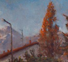 Winter Sunset by AheadForDinci