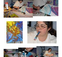 Artist At Work by Bea Godbee