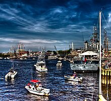 Busy Harbor by LudaNayvelt
