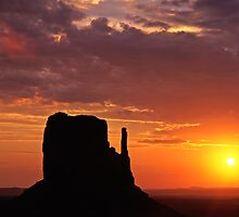 West Mitten Butte by Mike Norton