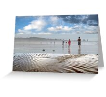 A Break in the Weather - Triptych Greeting Card