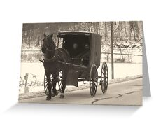 Amish near Breman Ohio in Fairfield County Greeting Card