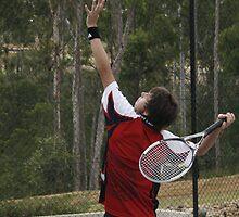 David Playing Tennis by Seone Harris-Nair