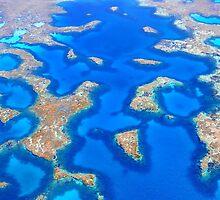 Aerial Abrolhos by Kerryn Benbow