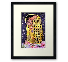 Gustav's Kiss (collage) Framed Print