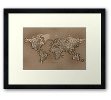 The World Map of Small Towns Framed Print