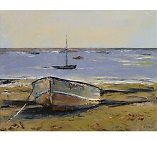 Boats in Provincetown Harbor Photographic Print