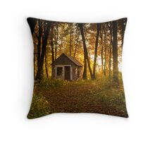 Shack in the Woods Throw Pillow