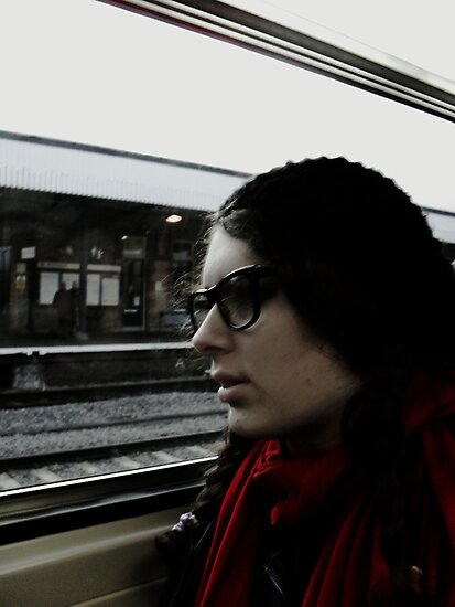 Last Train Home - Self Portrait. by Ruth  Jones