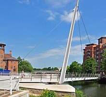 Swing Bridge at Cathedral Green, Derby by Rod Johnson