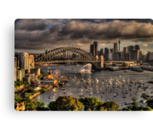 Celebration - Sydney Harbour New Years Eve - The HDR Experience Canvas Print