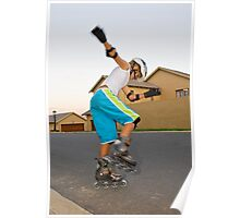 Afternoon Rollerblading Session Poster