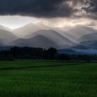 Evening light on layered hills by fabianfred
