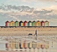 walking the whippet by Paul Watson