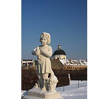 The gardens of the Belvedere palace Photographic Print