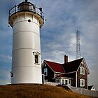 Woods Hole Point Light, Falmouth, Massachusetts, USA by Nancy Bray