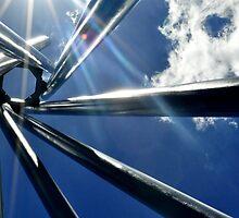 Spiral Sculpture on Blue Sky by rjmp