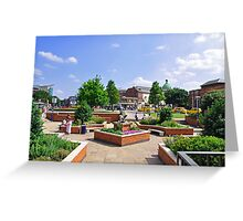 Corporation Street Garden, Derby Greeting Card