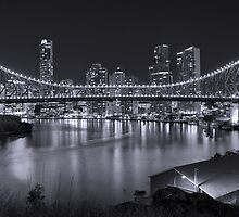 Story Bridge B&W- Brisbane by Nathan Seiler